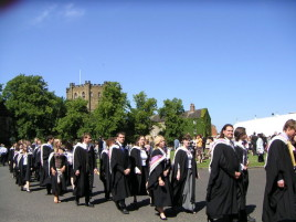 Students graduate at Durham University, 2005