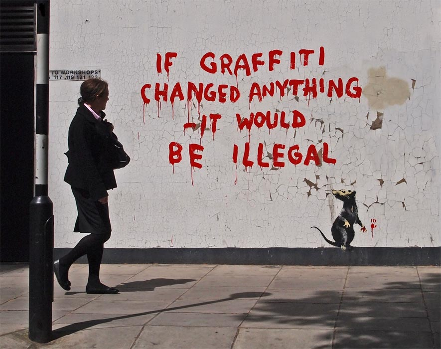 Graffiti banksy the politics of the visual for Most famous house songs