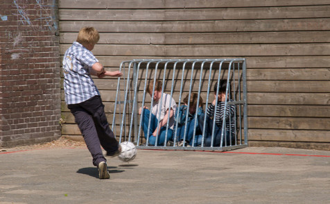 Bully in the playground