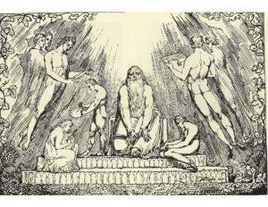 William Blake: Enoch Lithograph